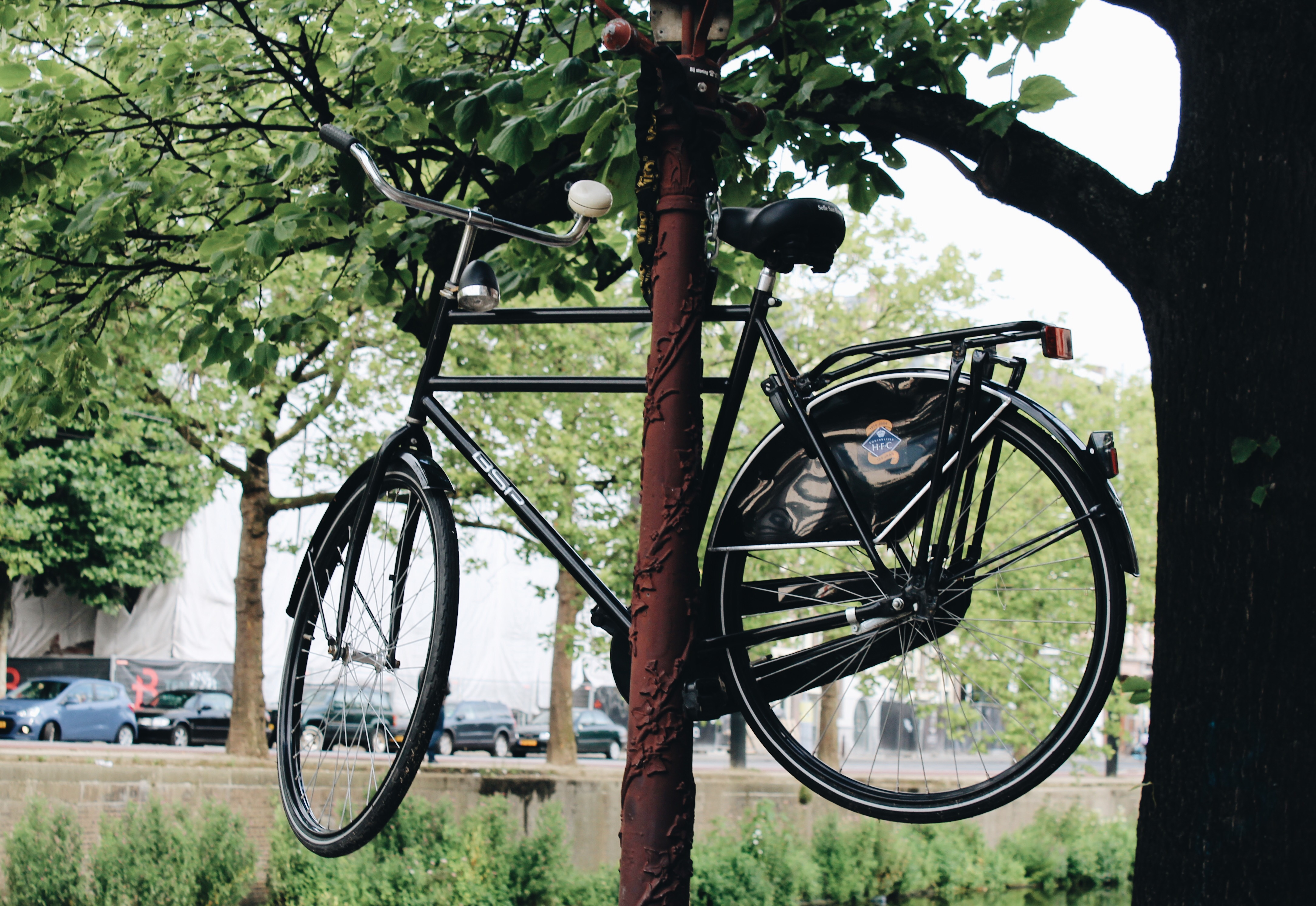 Bike Chained to a Lamppost