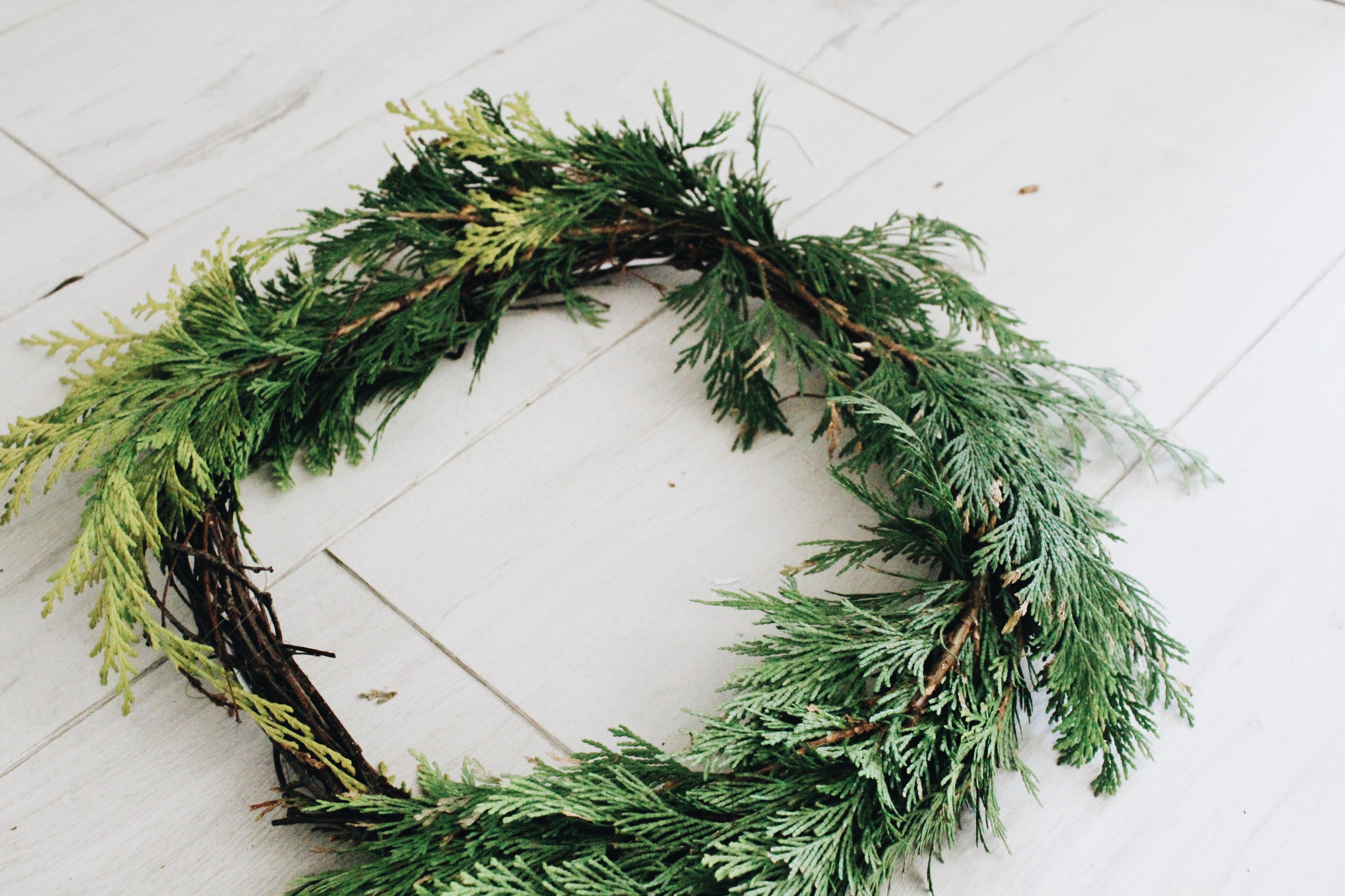 Christmas Wreath DIY